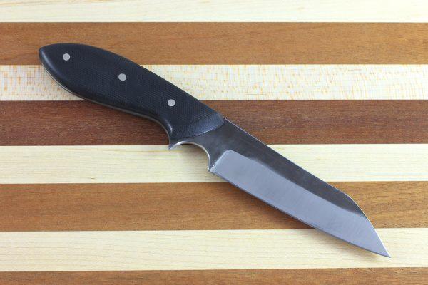205mm Muteki Series Wharncliffe Brute Neck Knife #146, Micarta - 106grams