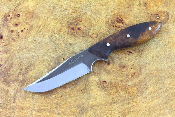 188mm Muteki Series Clave Neck Knife #341, Ironwood - 87 grams