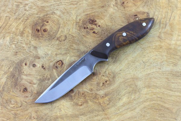 155mm Muteki Series Emily's Neck Knife #219, Ironwood - 52grams