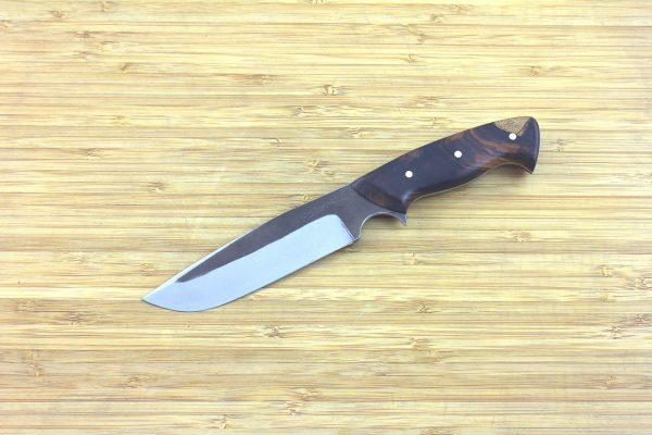 220mm Muteki Series Whitecrane Freestyle Camp Knife #17, Ironwood - 127 grams