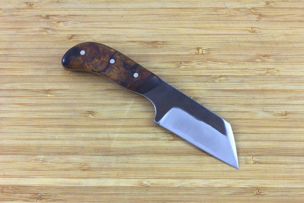 170mm Muteki Series Freestyle Neck Knife #224, Ironwood - 97grams