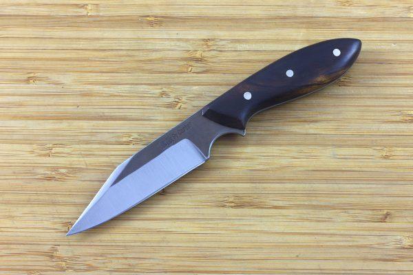 176mm Muteki Series Pipsqueek Freestyle Neck Knife #242, Ironwood - 73grams