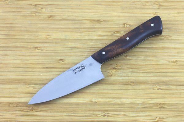 3.56 sun Muteki Series Freestyle Kitchen Knife #280, Ironwood - 96 grams