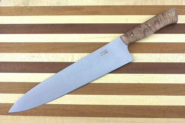 9.27 sun Muteki Series Gyuto #360, Stabilized Maple - 295 grams