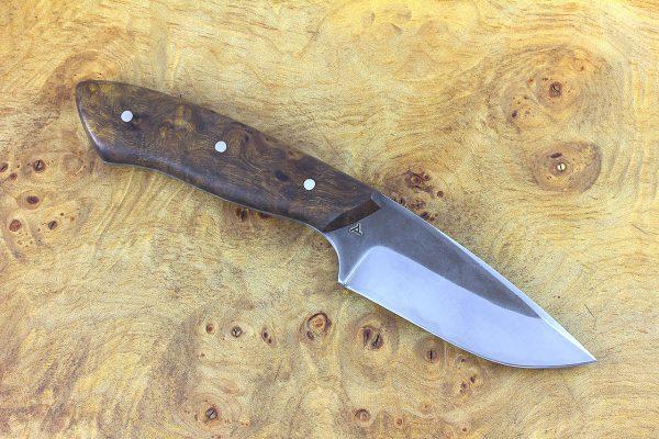 195mm Muteki Series Kajiki Neck Knife #344, Ironwood - 130 grams