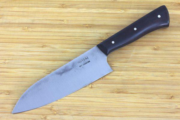 4.88 sun Muteki Series Wa-bocho Knife #242, Ironwood - 129grams