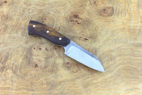 142mm Muteki Series Pipsqueak Brute Neck Knife #318, Ironwood - 62 grams