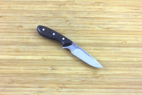 138mm Muteki Series Pipsqueak Original Neck Knife #302, Ironwood - 48 grams