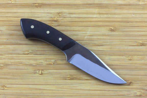 154mm Muteki Series Pipsqueek Freestyle Neck Knife #237, Ironwood - 72grams