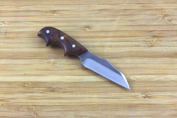 116 mm Muteki Series Neck Knife #286, Pipsqueak Freestyle Model, Ironwood - 31 grams