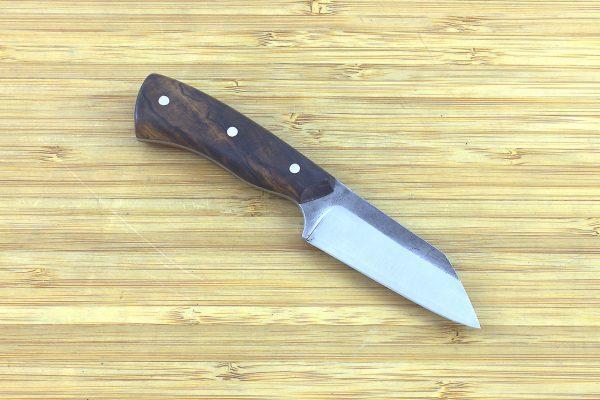 140mm Muteki Series Pipsqueek Freestyle Neck Knife #297, Ironwood - 59 grams