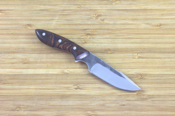 145mm Muteki Series Pipsqueek Original 'Harpoon' Neck Knife #197, Ironwood - 42grams