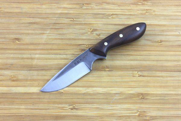 138mm Muteki Series Pipsqueek Original Neck Knife #277, Ironwood - 51grams