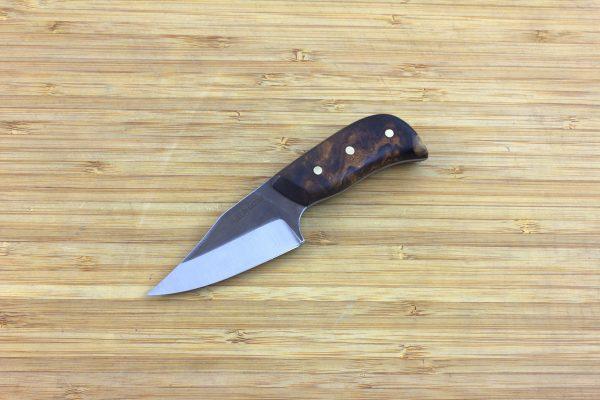 137mm Muteki Series Short 'N' Stubby Freestyle Neck Knife #275, Ironwood - 73grams