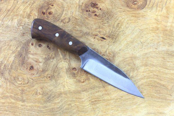 153mm Muteki Series Pipsqueek Freestyle Neck Knife #208, Ironwood - 63grams