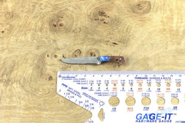79mm Muteki Series Mini Freestyle, Damascus, Maple Burl - 9 grams