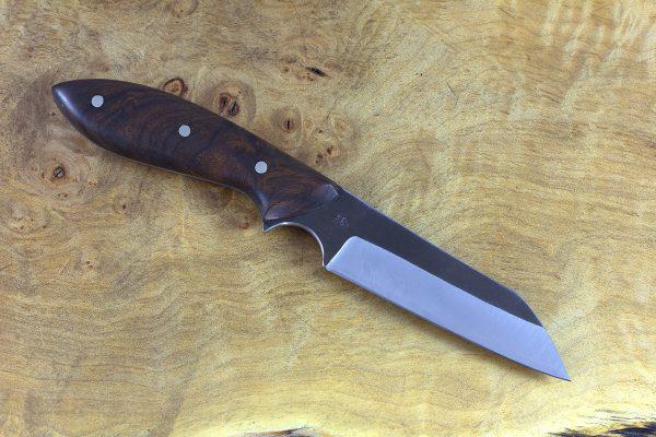 185mm Muteki Series Wharncliffe Brute #386, Ironwood - 79 grams