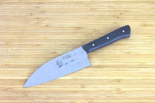 4.85 sun Muteki Series Freestyle Wa-bocho Knife #248, Micarta - 132 grams