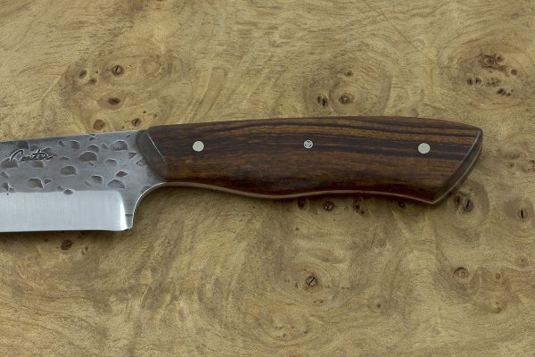 *LIMITED* 241mm Utility / Outdoor Knife, Hammer Finish, Ironwood - 139grams