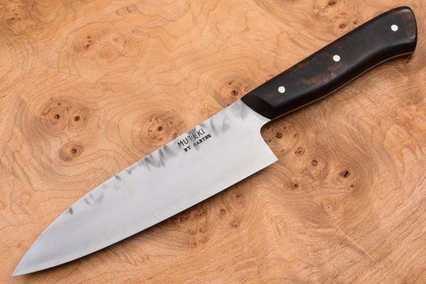 5 sun Muteki Funayuki Kitchen Knife - Stainless Fukugozai - Arizona Desert Ironwood - #33