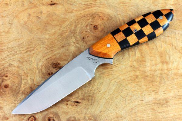 "190mm Murray's ""Perfect"" Model Neck Knife, Polish Finish, Checkered Flag - 96grams"
