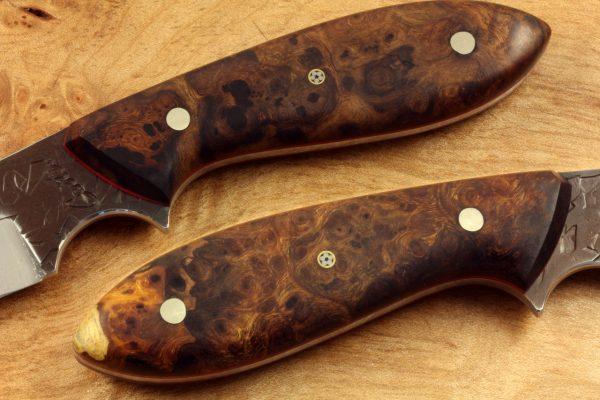 191mm Wharncliffe Brute Neck Knife, Hammer Finish, Premium Ironwood 90grams