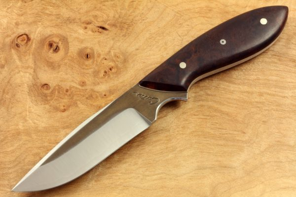 196mm Vex Clip Neck Knife, Forge Finish, Ironwood 90grams