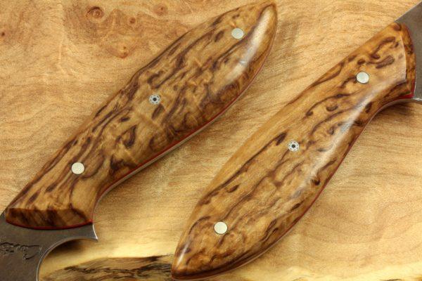 211mm Long Original Neck Knife, Forge Finish, Stabilized Birch