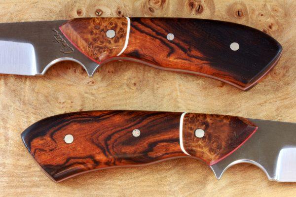 189mm 'Harpoon' Aviator Jr. Neck Knife, Forge Finish, Premium Ironwood / Burl - #10