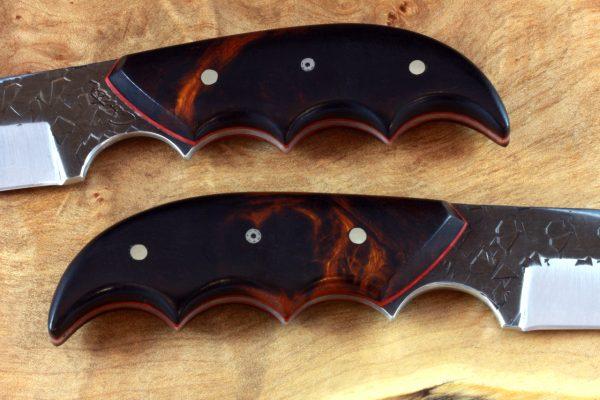 182mm Combat Clave Neck Knife, Hammer Finish, Ironwood - 90grams