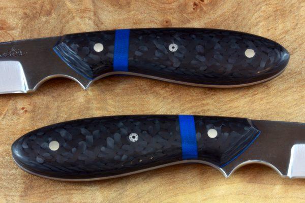 165mm Original Neck Knife, Forge Finish, Carbon Fiber - 70grams