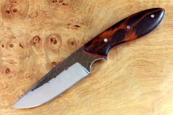 "190mm Murray's ""Perfect"" Model Neck Knife, Hammer Finish, Ironwood - 100grams"