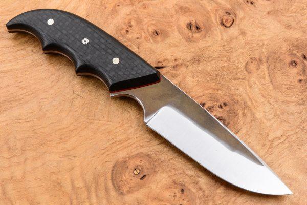 170mm Combat Neck Knife - Forge Finish - Carbon Fiber
