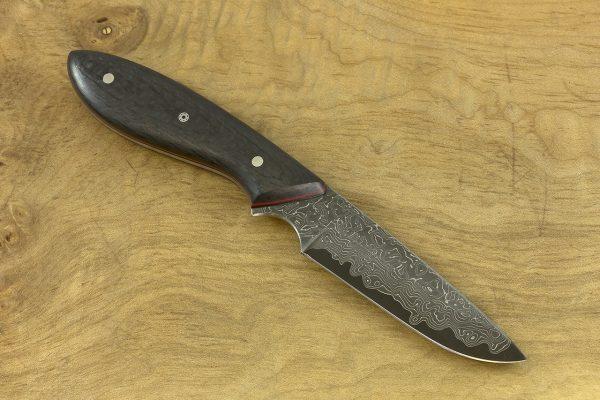178mm Original Neck Knife, Damascus, Carbon Fiber - 71grams