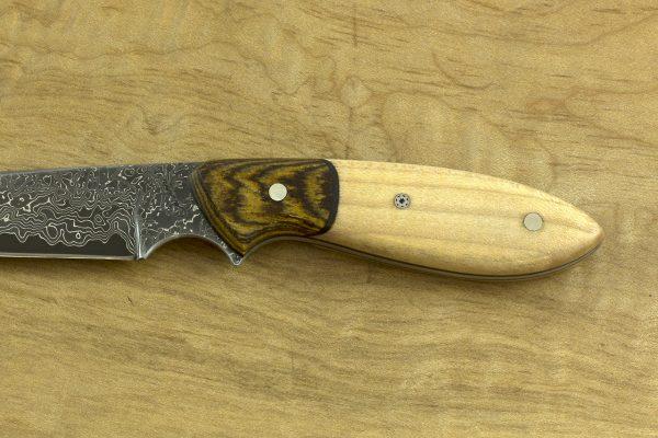 169mm Compact Original Neck Knife, Damascus, Maple / Bocote - 64grams