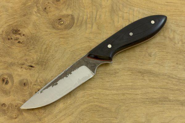 177mm Original Neck Knife, Hammer Finish, Black Micarta - 70grams