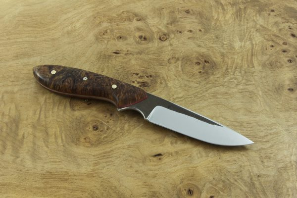 180mm Original Neck Knife, Forge Finish, Stabilized Burl - 76grams