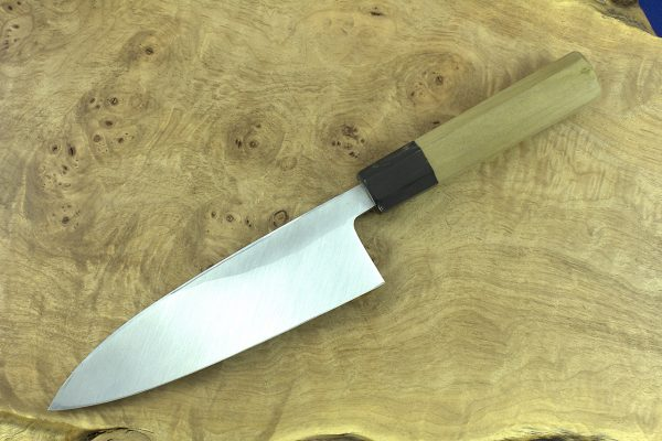 184mm Shiro-ko Kasumi Deba #22, Satin Finish - 290grams