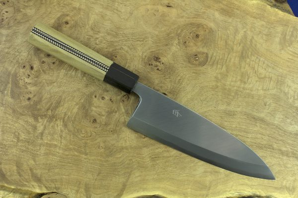 184mm Shiro-ko Kasumi Deba #25, Satin Finish - 285grams