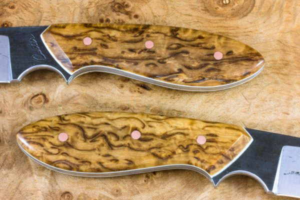 *LIMITED* 189mm Perfect Model Neck Knife, Forge Finish, Stabilized Burl - 108grams