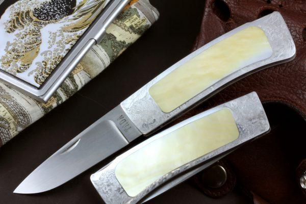 Tada Sohei Leopard Lockback #1, Gold Pearl