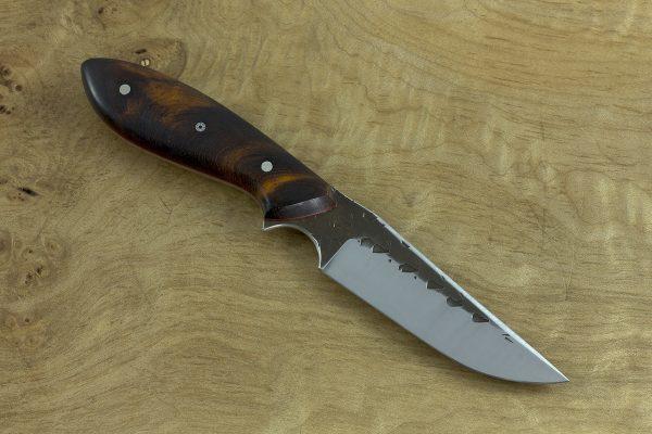185mm Tombo Neck Knife, Hammer Finish, Ironwood - 83grams