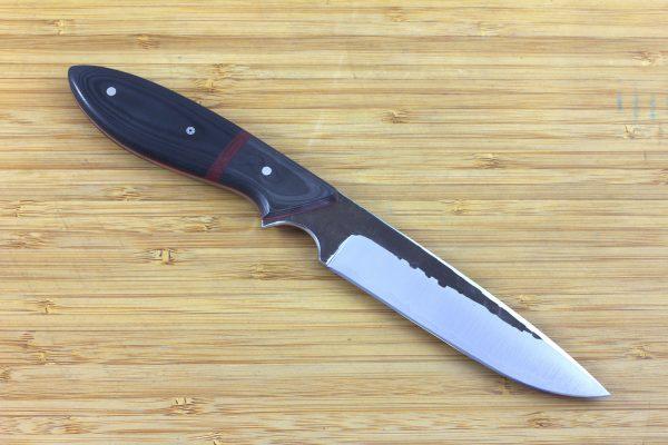 237mm Carter Utility Knife, Hammer Finish, Carbon Fiber / Micarta - 127grams