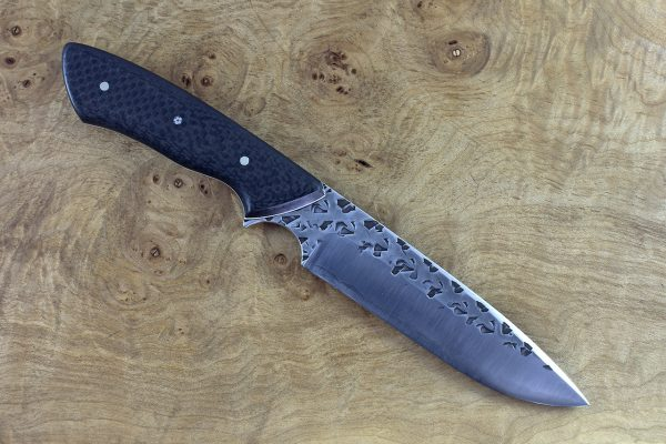 245mm Whitecrane Standard, Polished Hammer Finish, Carbon Fiber - 140grams