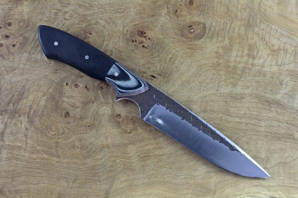 254mm Whitecrane Standard, Hammer Finish, Grey and Black G-10 / Black Micarta - 170grams
