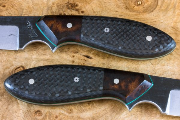 *LIMITED* 189mm Wharncliffe Brute Neck Knife, Forge Finish, Ironwood / Carbon Fiber - 100grams
