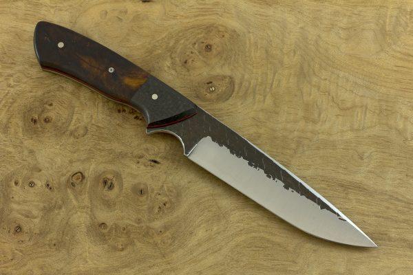 242mm Whitecrane Standard, Hammer Finish, Carbon Fiber / Ironwood - 144grams