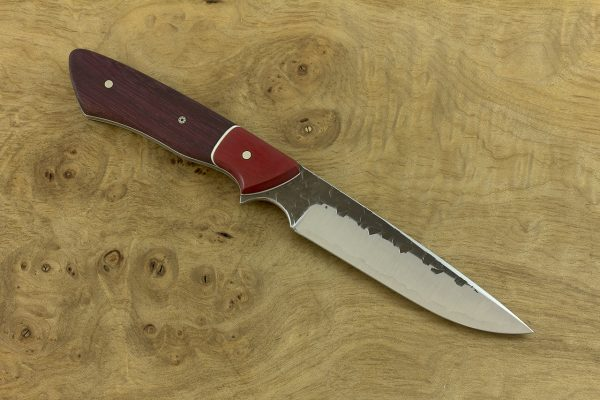 222mm Whitecrane JR, Hammer Finish, Micarta / Purple Heart - 98grams