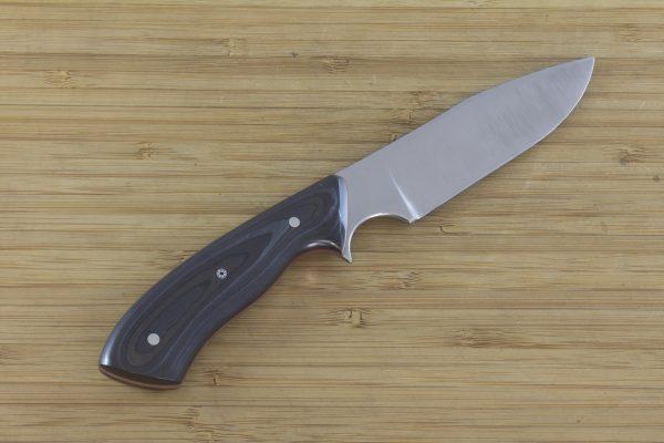 195mm Aviator Neck Knife, Forge Finish (Polished), Unidirectional Carbon Fiber w/ Red G10 Liner - 98 grams