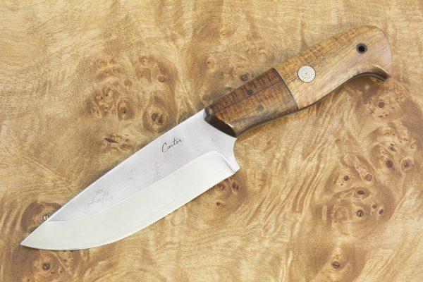 240 mm Freestyle Bush Knife, Damascus, Natural Koa - 204 grams